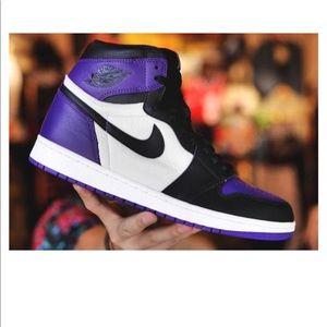 "Air Jordan 1 Retro HI OG ""court purple"" New"